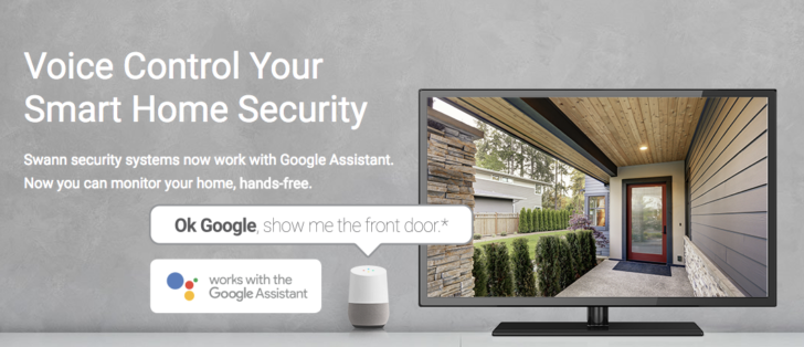 Swann wired security cameras now support Google Assistant voice commands