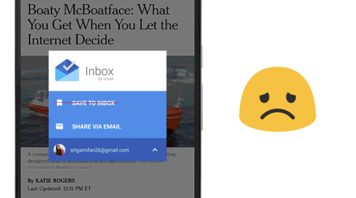 Google removes 'Save to Inbox' feature from Android app, but it's still available on the web [Updated]