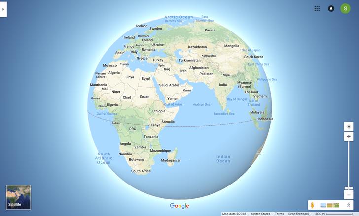 Google Maps now has a '3D Globe Mode' on desktop