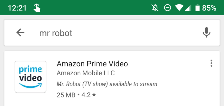 Google Play Store shows you the streaming apps that have the movie or show you're searching for