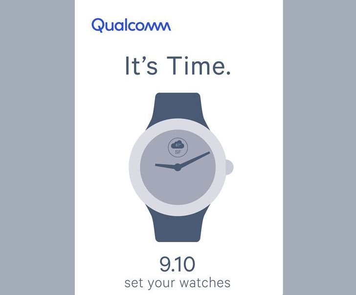 Qualcomm teases September 10th smartwatch event