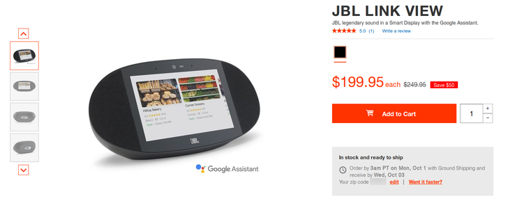 [Deal Alert] Grab a JBL Link View smart display for $200 ($50 off)