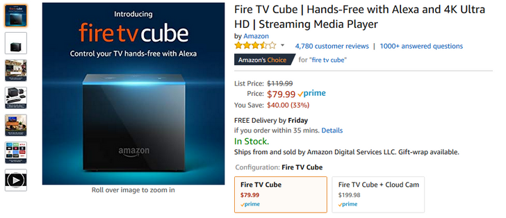[Deal Alert] Amazon's Fire TV Cube is at an all-time low of $80 ($40 off)