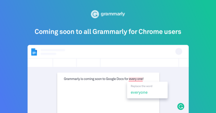 Grammarly for Chrome starts rolling out Google Docs beta support to all users