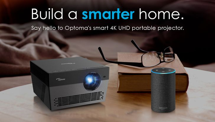 Optoma's new Android-powered UHL55 projector works with Google Assistant and Alexa