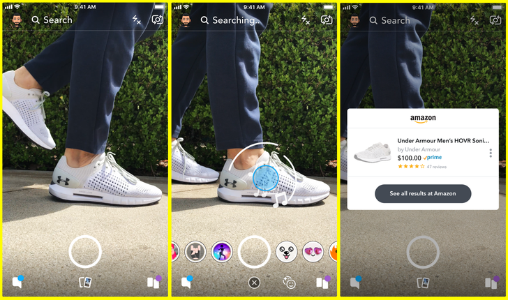 Snapchat now lets you buy products on Amazon by taking pictures of them