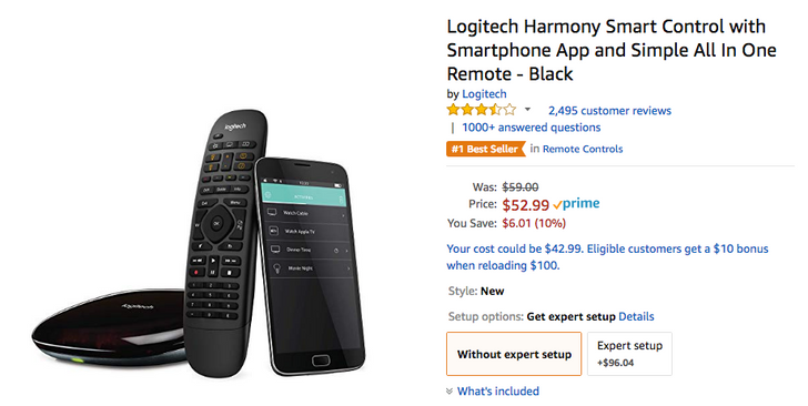 [Deal Alert] Logitech Harmony Smart Control down to $53 on Amazon