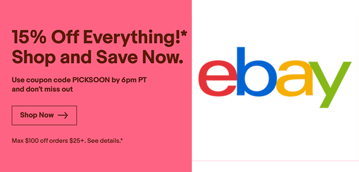 Deal Alert Today Only 15 Off Coupon For Ebay