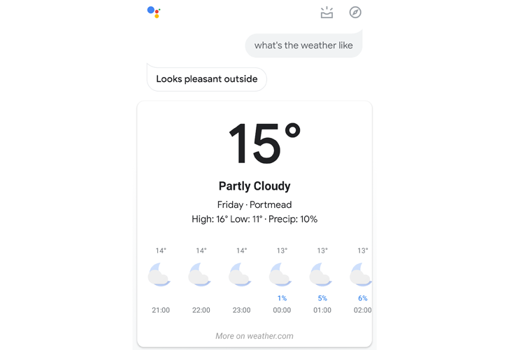 Google Assistant's new Material visual responses start rolling out to some users