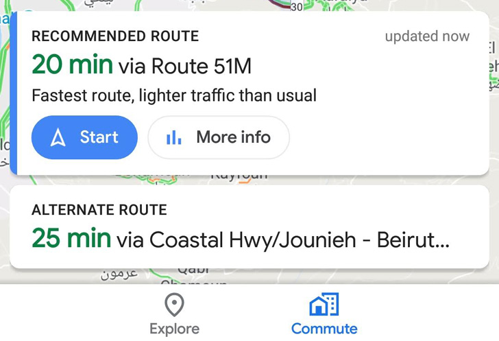 Google Maps is testing a combined Commute tab to replace Driving and Transit