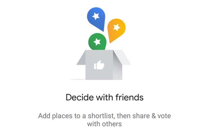 [Update: Official] Google Maps' group planning Shortlist starts showing up for some users
