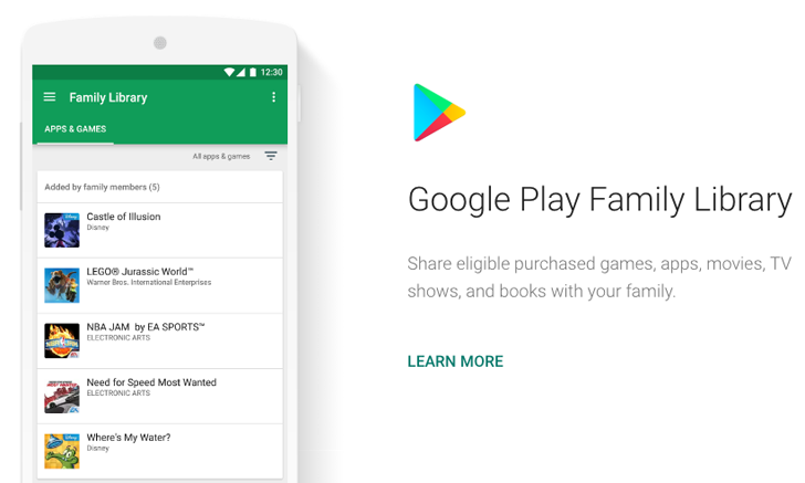[Update: Many more countries] Google Play Family Library is going live for some users in India