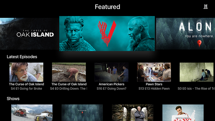 [Update: They're back] Android TV apps now available for A&E, Lifetime, FYI, and History Channel