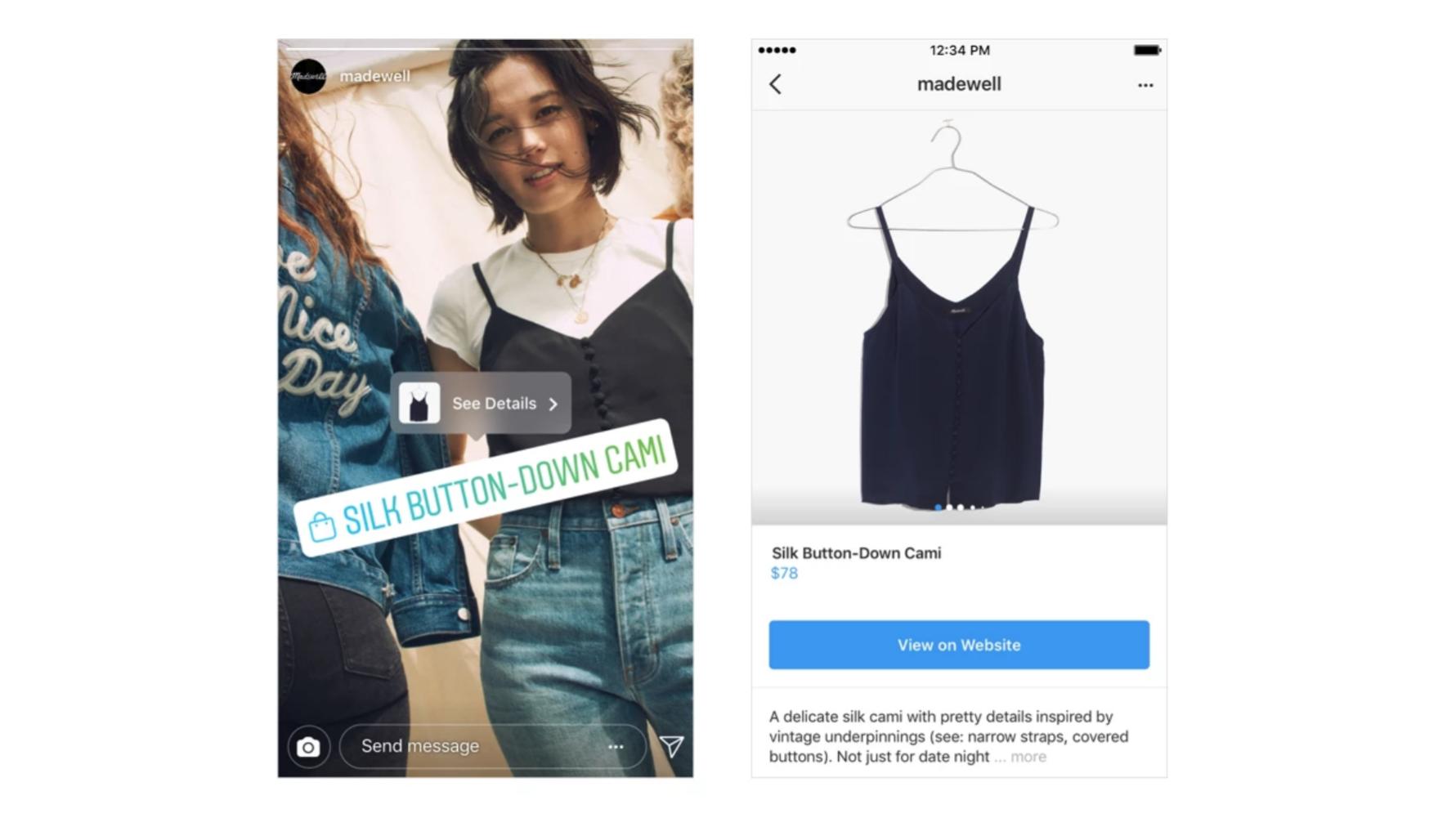 Image result for instagram story shopping