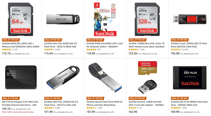[Deal Alert] Today's Amazon Gold Box includes SanDisk SD cards, flash drives, and more
