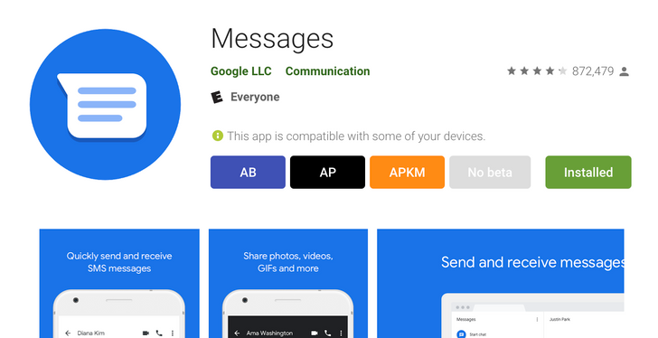 Google shortens 'Android Messages' to just 'Messages' on its Play Store listing