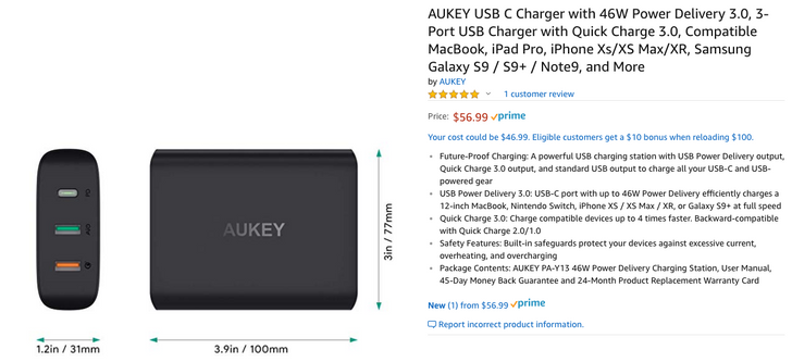 [Deal Alert] AUKEY's new 46W USB-C PD charger is $41.60 ($15 off) with coupon code on Amazon