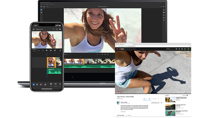 Adobe's new cross-device video editing app, Premiere Rush CC, is coming to Android in 2019