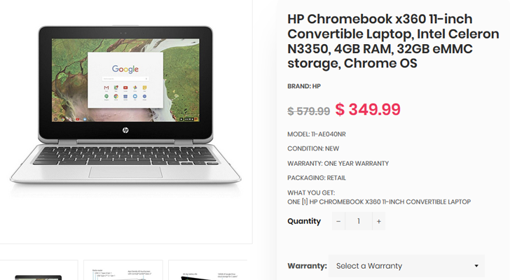 [Deal Alert] Get the HP Chromebook x360 G1 EE for $250 ($100 off) from Daily Steals with our exclusive coupon