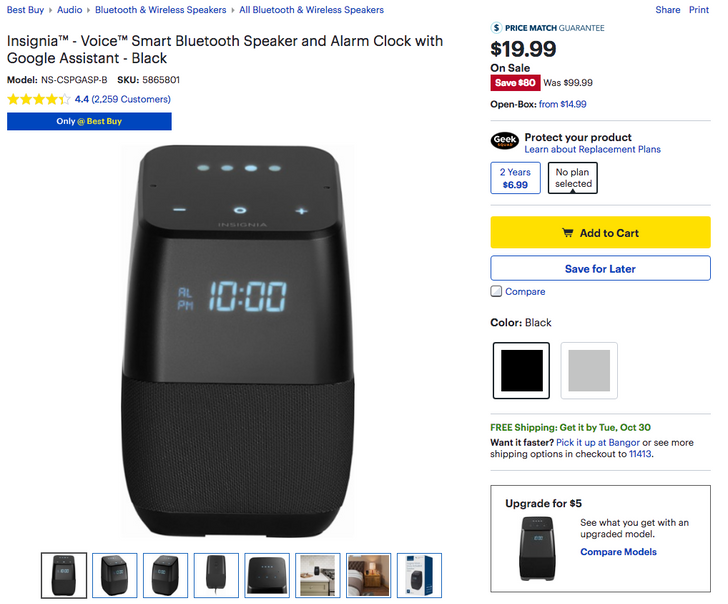 [Update: $25 and $30 now] Insignia's great Google Assistant speakers are down to an insanely low $20 and $25