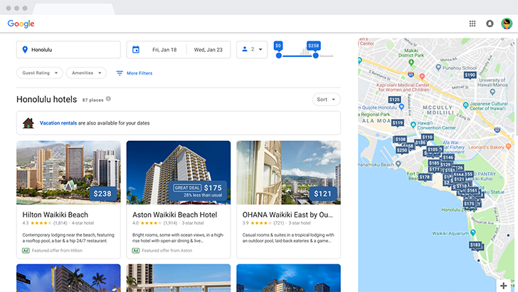 Google refreshes hotel search experience on desktop to align with mobile