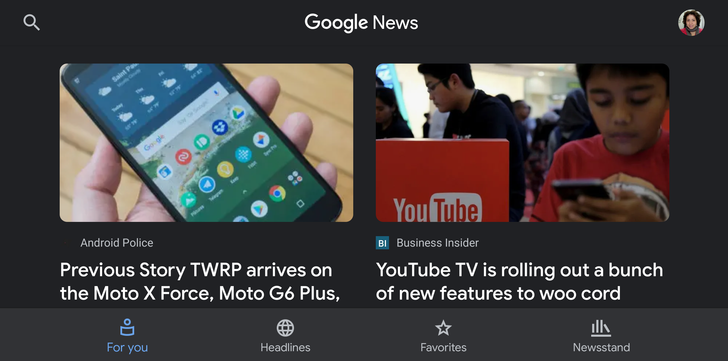 Google News 5.5 brings a dark theme to the entire app [APK Download]