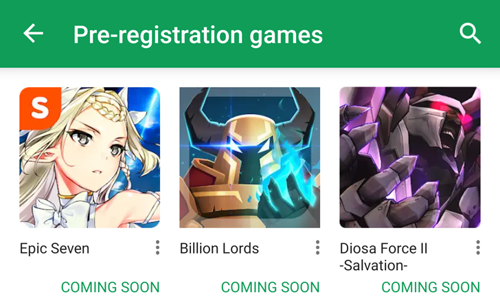 Google Play developers can now apply for early access to pre-registration