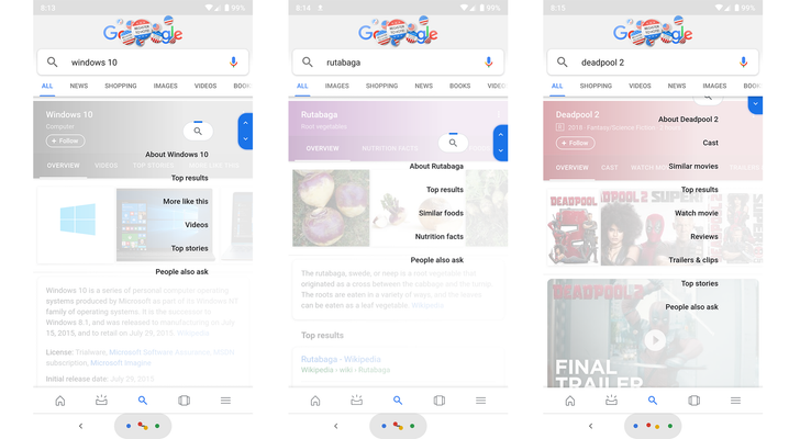Google Search is testing a mobile scroll overlay featuring relevant subtopics