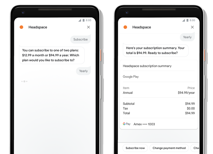 Developers can now sell digital goods via Assistant Actions