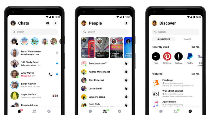Facebook Messenger 4's simplified user experience is rolling out worldwide starting today