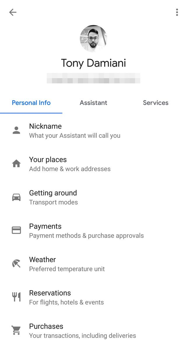 Google Assistant's New Designed settings page Started Rolling Out