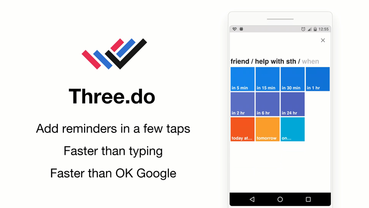 Three.do is a quick reminder app that does its thing and gets out of the way
