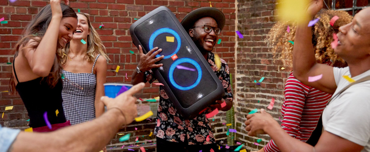 JBL PartyBoxes are massive Bluetooth speakers with a built-in light show