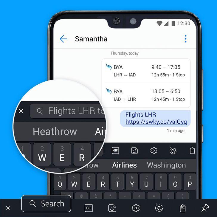SwiftKey Keyboard gets Bing search integration