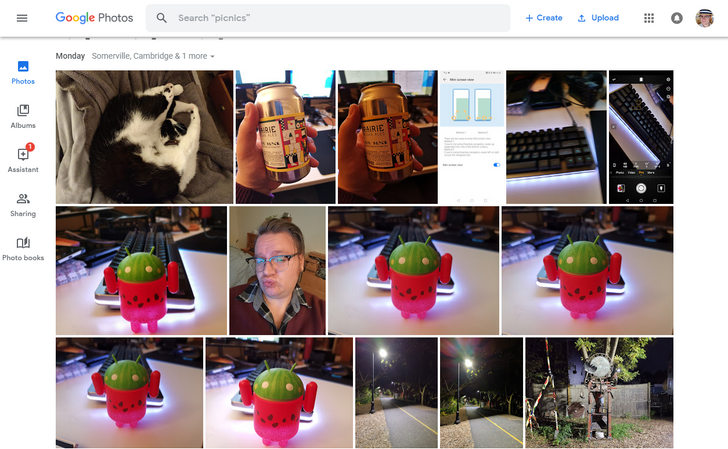 Google Photos site updated to match the app's refreshed Material UI