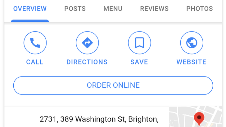 FYI: Google will let you order food right from Search — no visiting third-party order pages