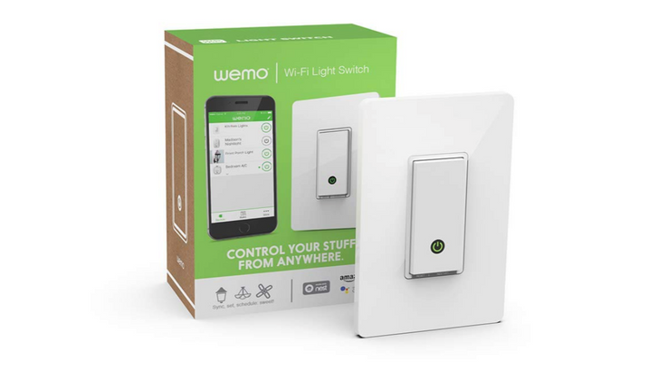 Today only, grab a Wemo Wi-Fi light switch for $28 ($22 off) on Amazon