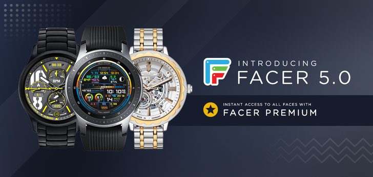 Facer v5.0 adds new watch face partners, a premium subscription, and more