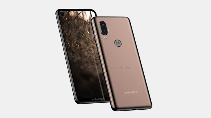 First Motorola P40 renders suggest a hole-punch front camera