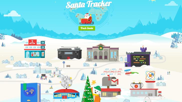 Google Santa Tracker now charting St. Nick's progress live through the sky