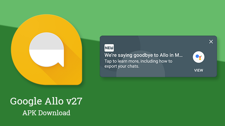 Google Allo v27: It's about to be history, and now you can export yours [APK Download]