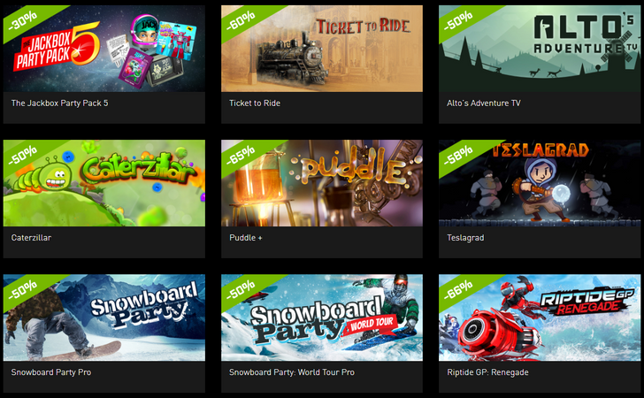 NVIDIA's Shield holiday game sale includes Riptide GP: Renegade, Ticket to Ride, Talos Principle, and more