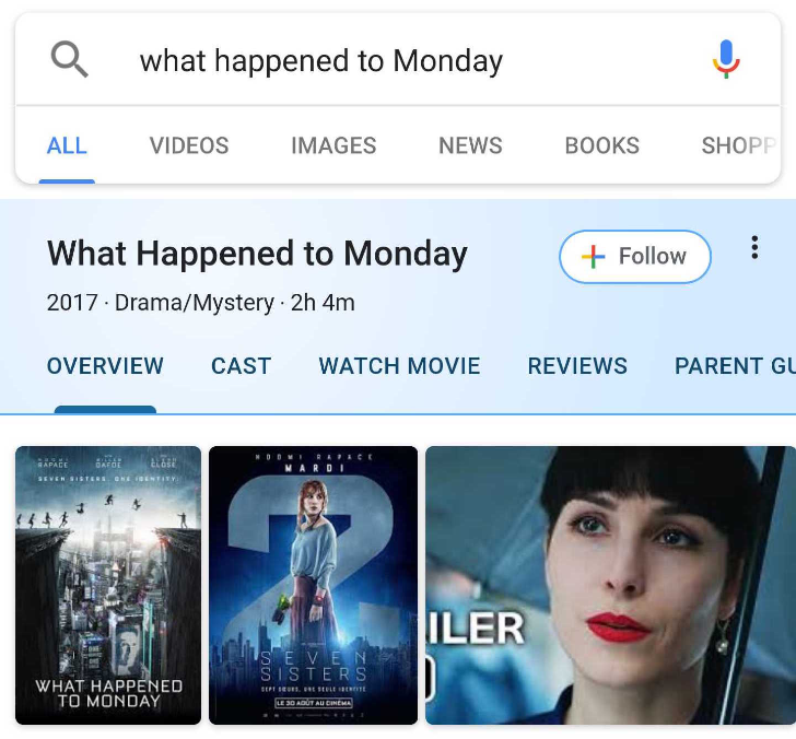 Google is testing a new search cards UI for movies, music, books, personalities, and more
