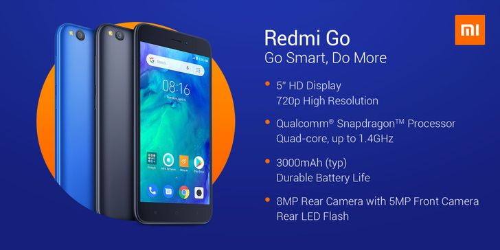 [Update: Launched in India for $65] Xiaomi's first Android Go phone is the Redmi Go, will reportedly cost under $90
