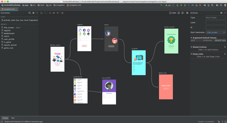 Android Studio 3.3 includes official Navigation Editor support and more than 200 bug fixes
