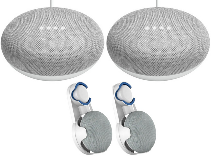 Google Home Mini 2-pack with wall mounts is just $40 on Rakuten with coupon code
