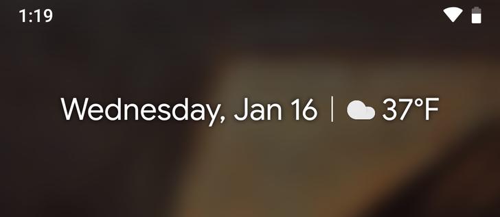 Latest Google beta update fixes At A Glance widget weather