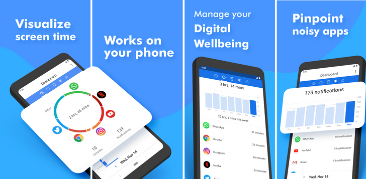 ActionDash, from the developer of Action Launcher, brings Digital Wellbeing features to any phone