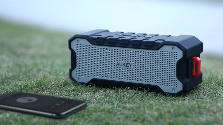 Aukey's rugged Bluetooth speaker is $22 (more than half off) on Amazon