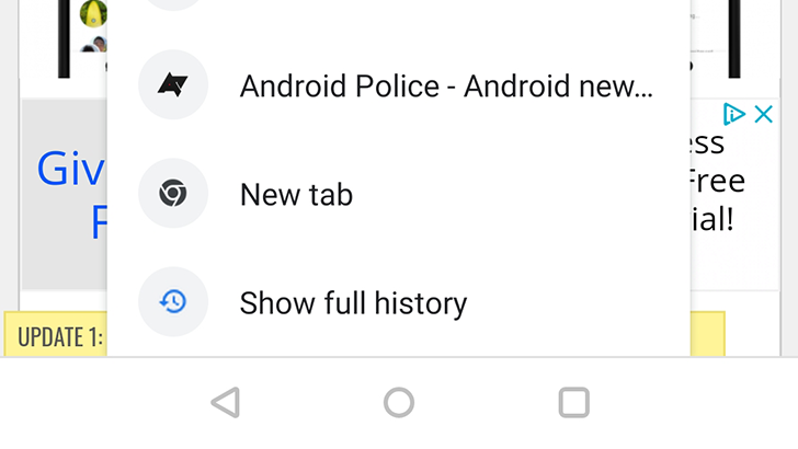 Chrome 72 adds long-press shortcut to tab history, drops